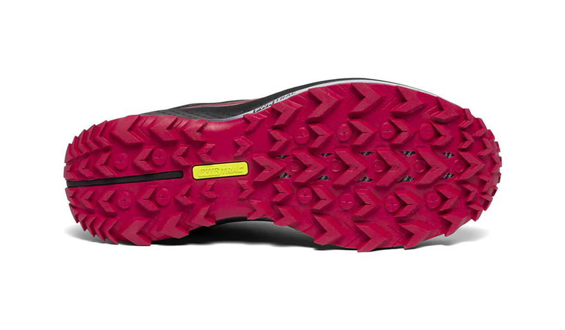 Women's Saucony Peregrine 10 Trail Running Shoe - Color: Black/Barberry (Regular Width) - Size: 7, Black/Red, large, image 4