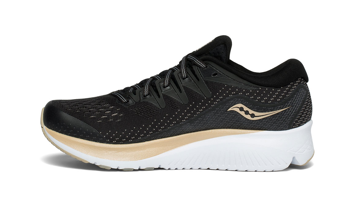 Women's Saucony Ride ISO 2 Running Shoe - Color: Black/Gold (Regular Width) - Size: 6.5, Black/Gold, large, image 2