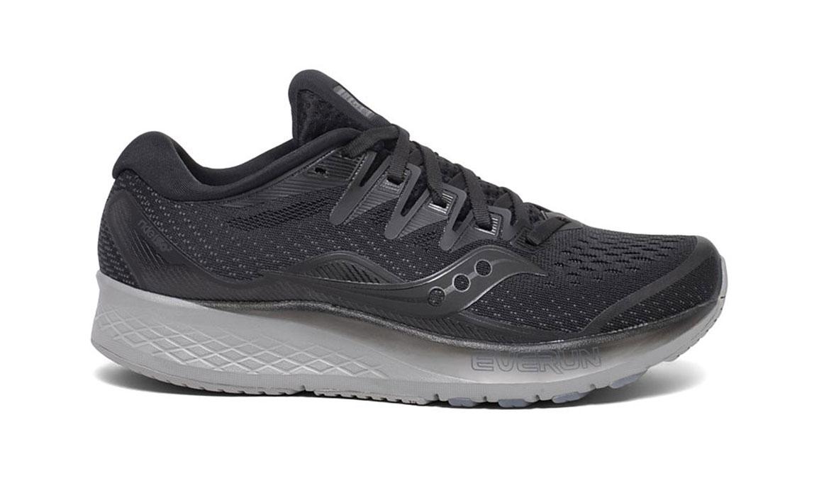 Women's Saucony Ride ISO 2 Running Shoe - Color: Blackout (Regular Width) - Size: 5, Black, large, image 1