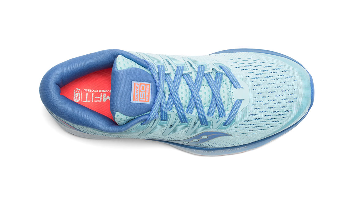 Women's Saucony Ride ISO 2 Running Shoe - Color: Blue/Coral (Regular Width) - Size: 6, Blue/Coral, large, image 3