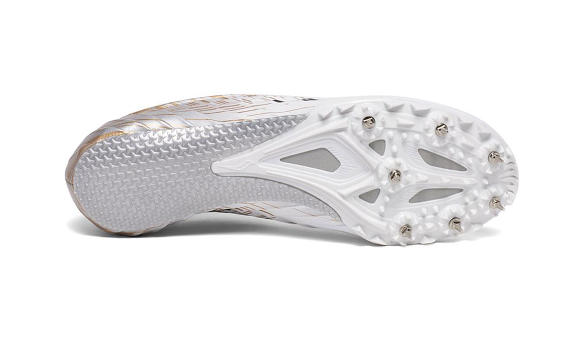 Women's Saucony Spitfire 5 Track Spikes - Color: White/Gold (Regular Width) - Size: 6, White/Gold, large, image 4
