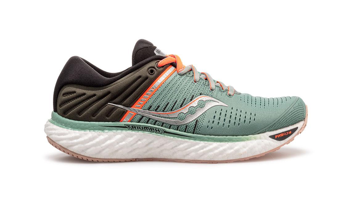 Women's Saucony Triumph 17 Jackalope Running Shoe - Color: Jackalope (Regular Width) - Size: 8, Grey/Green, large, image 1