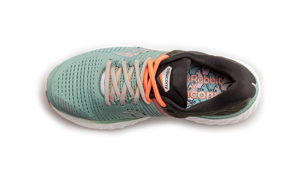 Women's Saucony Triumph 17 Jackalope Running Shoe - Color: Jackalope (Regular Width) - Size: 8, Grey/Green, large, image 4