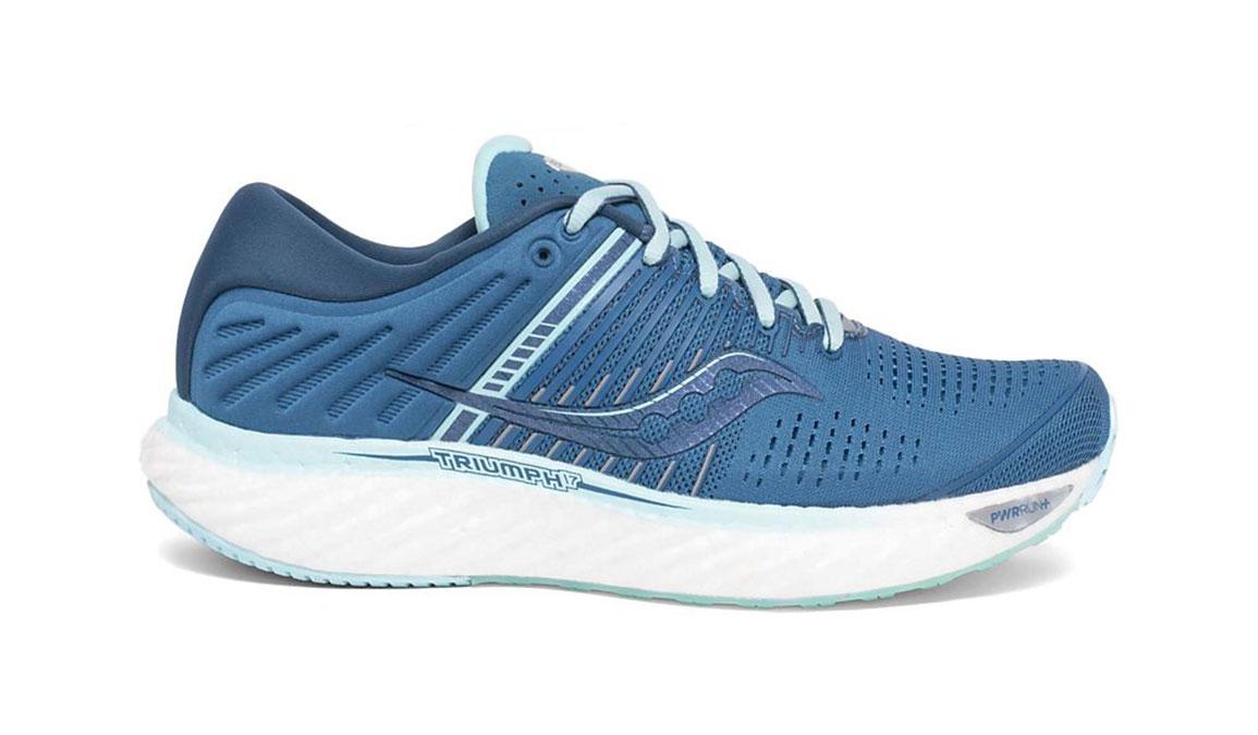 Women's Saucony Triumph 17 Running Shoe - Color: Blue/Aqua (Wide Width) - Size: 10, Aqua, large, image 1