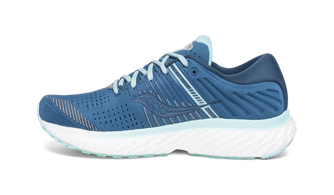 Women's Saucony Triumph 17 Running Shoe - Color: Blue/Aqua (Wide Width) - Size: 10, Aqua, large, image 2