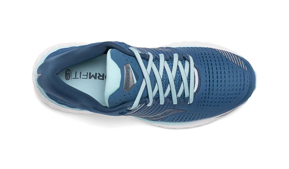 Women's Saucony Triumph 17 Running Shoe - Color: Blue/Aqua (Wide Width) - Size: 10, Aqua, large, image 3