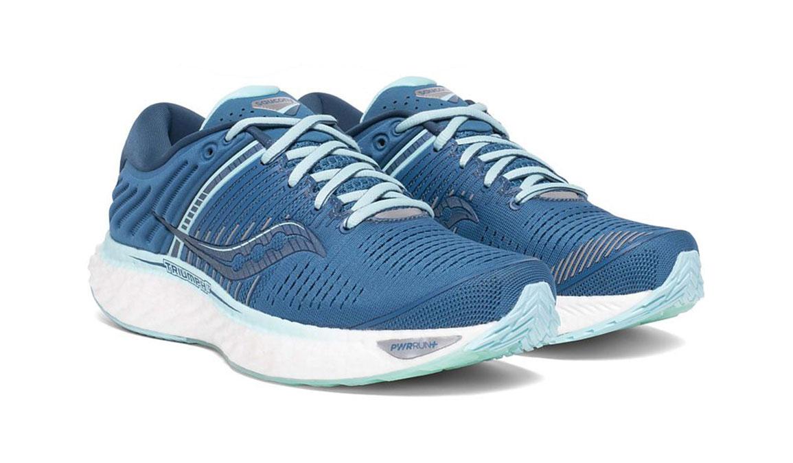 Women's Saucony Triumph 17 Running Shoe - Color: Blue/Aqua (Wide Width) - Size: 10, Aqua, large, image 5