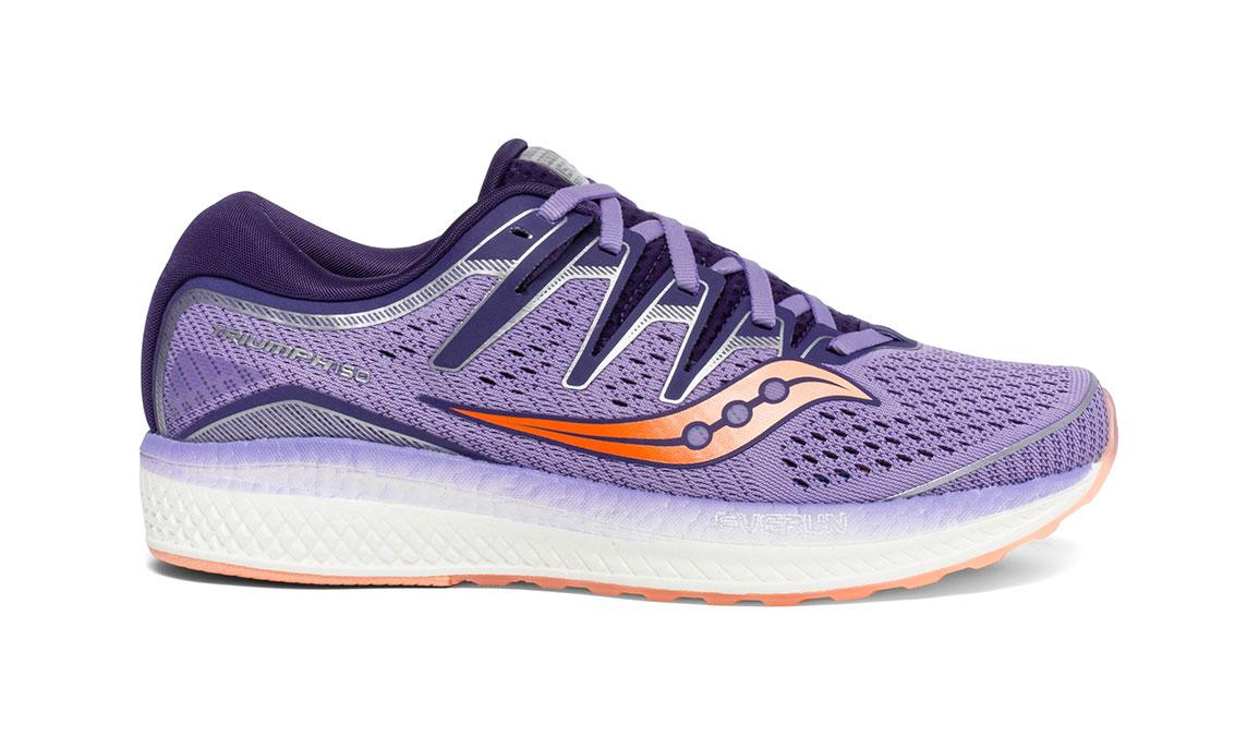 Women's Saucony Triumph ISO 5 Running Shoe - Color: Purple/Peach (Regular Width) - Size: 11.5, Purple, large, image 1