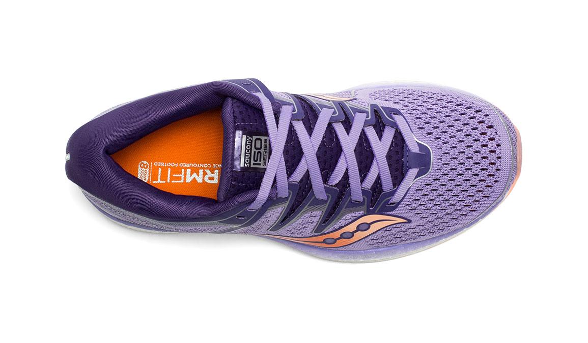 Women's Saucony Triumph ISO 5 Running Shoe - Color: Purple/Peach (Regular Width) - Size: 11.5, Purple, large, image 3