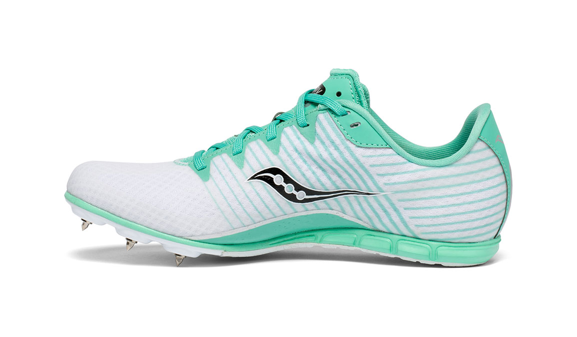 Women's Saucony Vendetta 2 Track Spikes - Color: White/Teal (Regular Width) - Size: 5, White, large, image 3