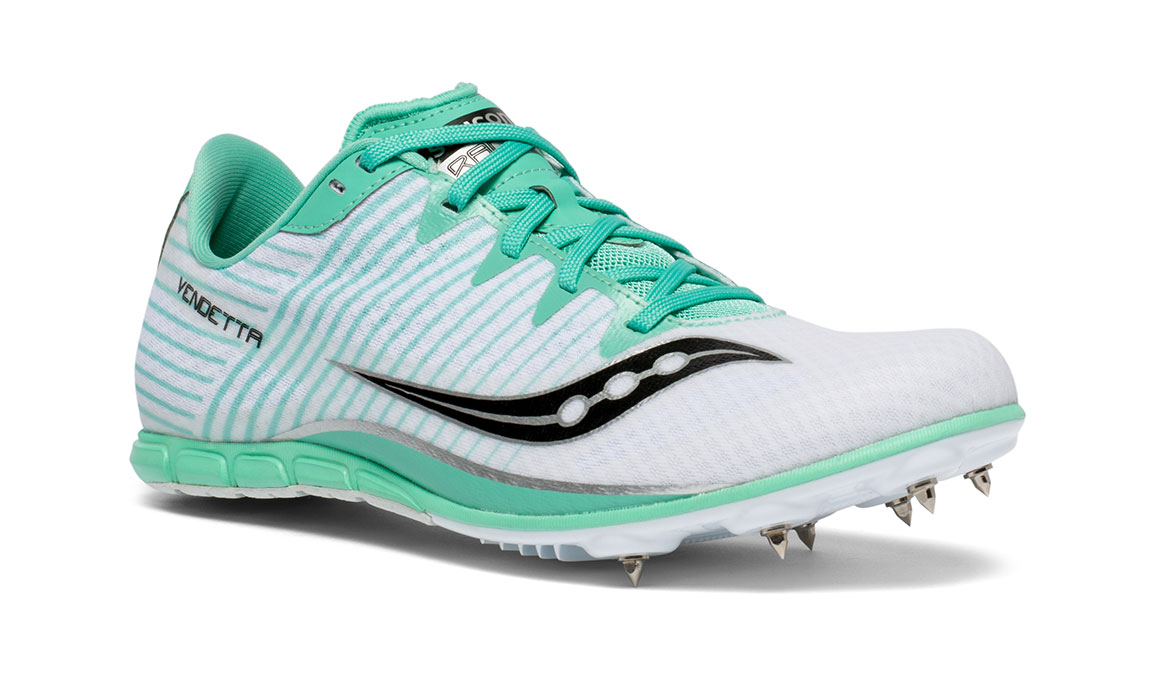 Women's Saucony Vendetta 2 Track Spikes - Color: White/Teal (Regular Width) - Size: 5, White, large, image 6