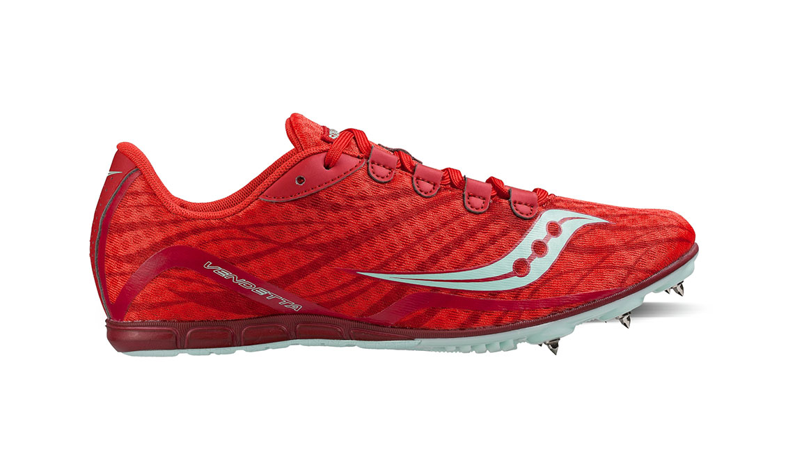 Women's Saucony Vendetta Track Spikes - Color: Red/Blue (Regular Width) - Size: 11, Red/Blue, large, image 1