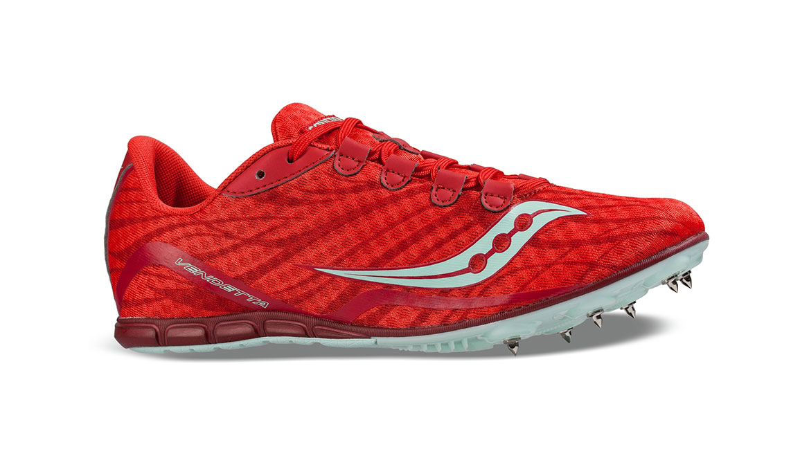 Women's Saucony Vendetta Track Spikes - Color: Red/Blue (Regular Width) - Size: 11, Red/Blue, large, image 2