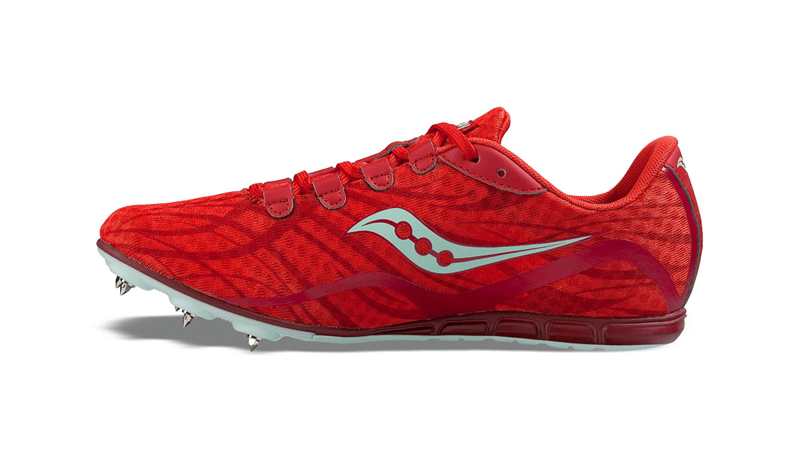 Women's Saucony Vendetta Track Spikes - Color: Red/Blue (Regular Width) - Size: 11, Red/Blue, large, image 3