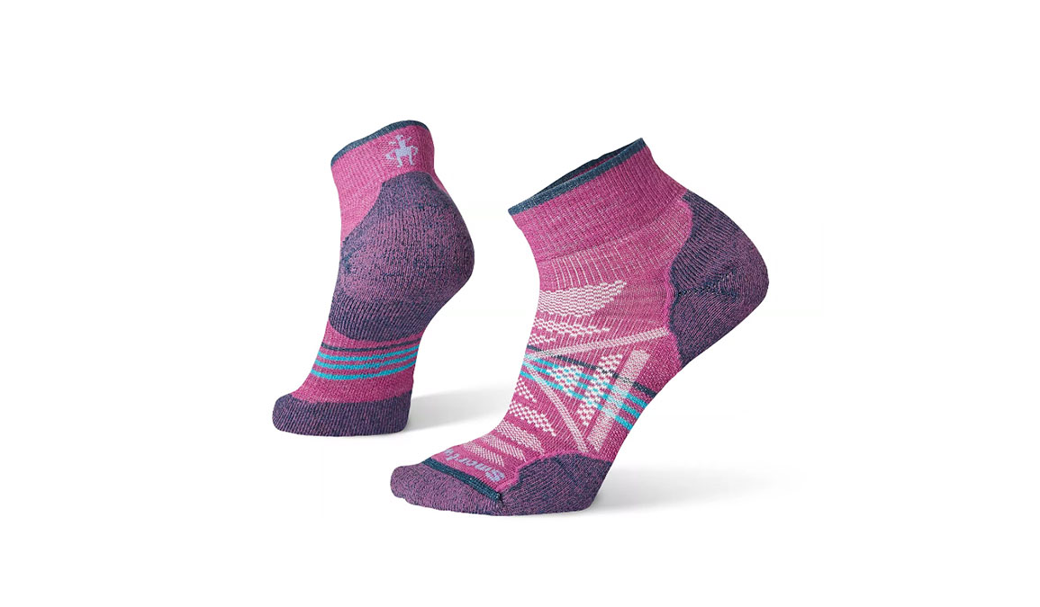 Women's Smartwool PhD Outdoor Light Hiking Mini Socks - Color: Meadow Mauve Size: S, Mauve, large, image 1