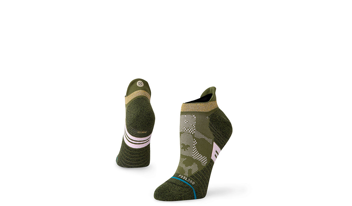 Women's Stance Caught It Up Tab - Color: Olive Size: S, Olive, large, image 1