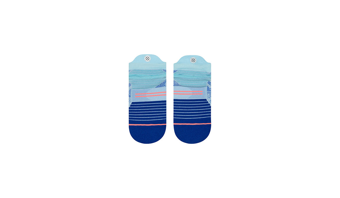 Women's Stance Uncommon Run Tab  - Color: Baby Blue Size: M, Blue/Blue, large, image 3