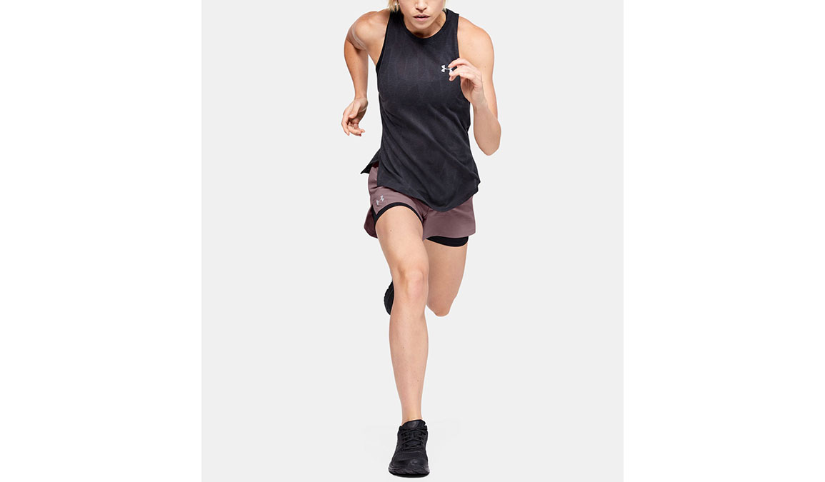 "Women's Under Armour Launch SW 2-in-1 3"" Shorts - Color: Hushed Pink/Black Size: XS, Hushed Pink/Black, large, image 3"
