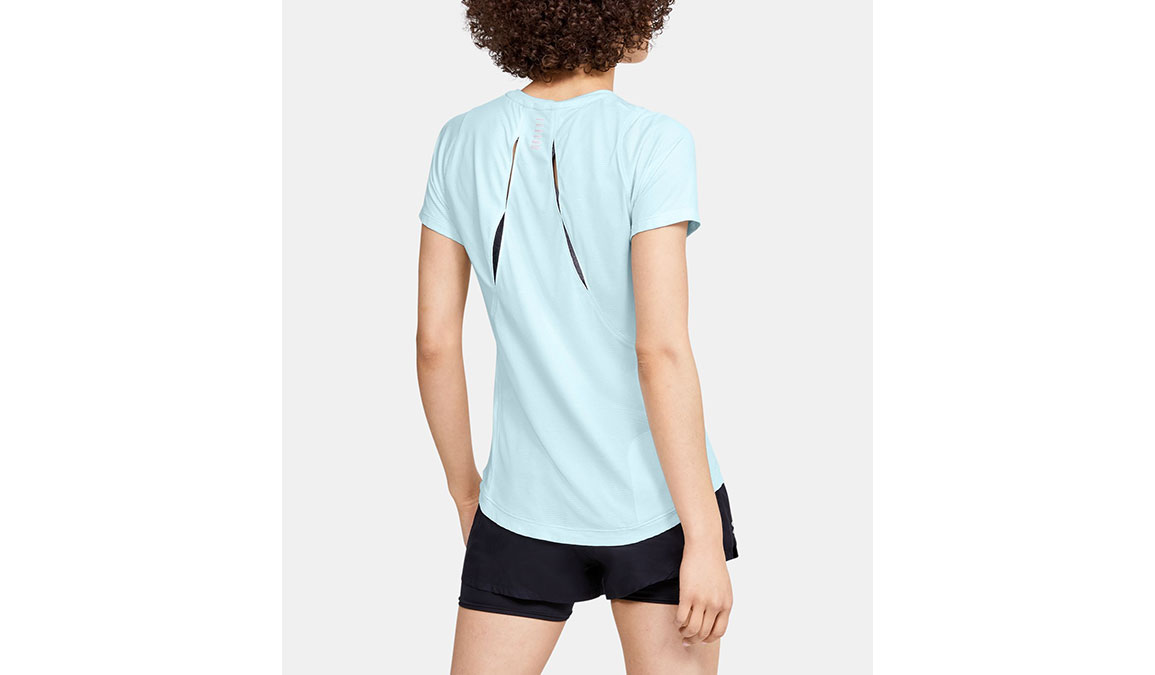 Women's Under Armour Qualifier Iso-Chill Embossed Short Sleeve - Color: Rift Blue Size: XS, Rift Blue, large, image 3