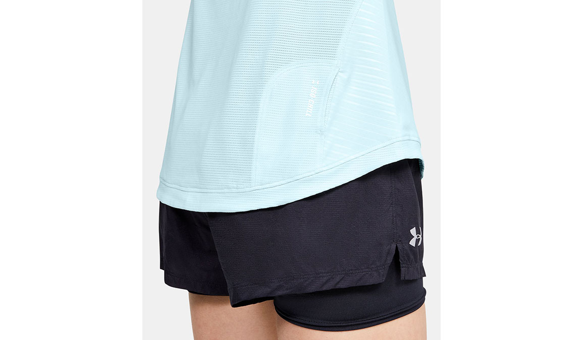 Women's Under Armour Qualifier Iso-Chill Embossed Short Sleeve - Color: Rift Blue Size: XS, Rift Blue, large, image 4
