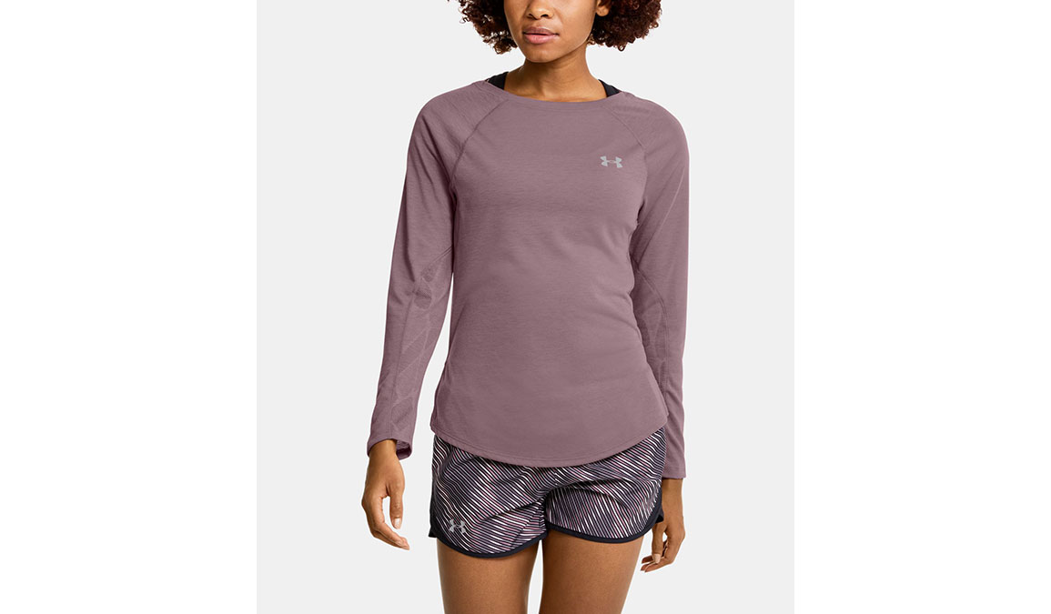 Women's Under Armour Streaker 2.0 Shift Long Sleeve - Color: Hushed Pink Size: XS, Hushed Pink, large, image 1