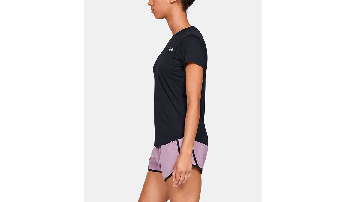Women's Under Armour Streaker 2.0 Short Sleeve  - Color: Black Size: XS, Black, large, image 2