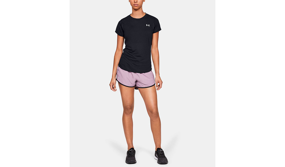 Women's Under Armour Streaker 2.0 Short Sleeve  - Color: Black Size: XS, Black, large, image 4