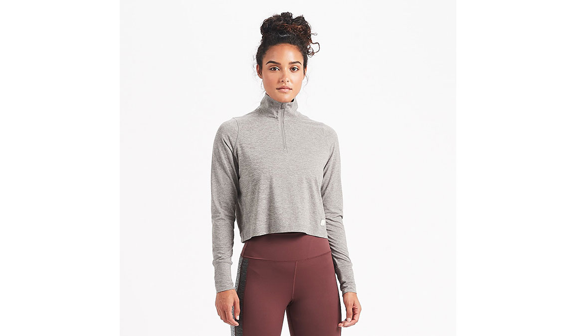 Women's Vuori Crescent Half Zip - Color: Heather Grey Size: XS, Heather Grey, large, image 1