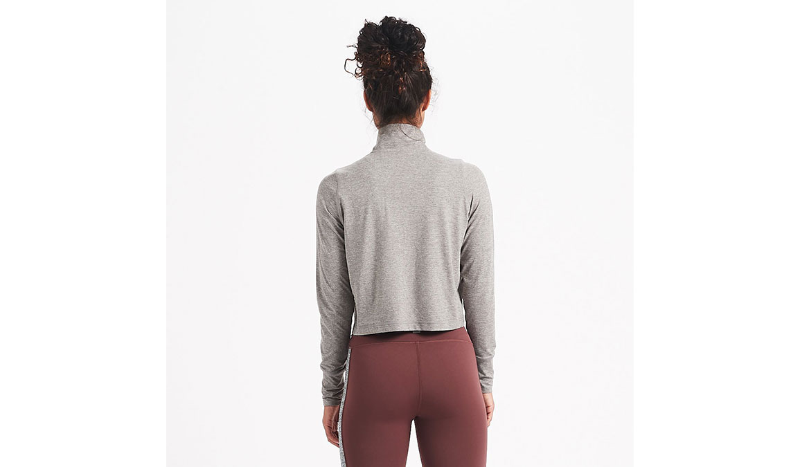 Women's Vuori Crescent Half Zip - Color: Heather Grey Size: XS, Heather Grey, large, image 3