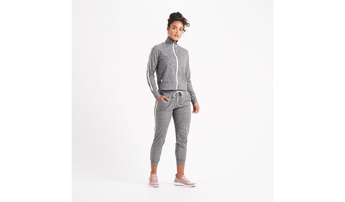 Women's Vuori Eclipse Track Jacket - Color: Heather Grey Size: XS, Heather Grey, large, image 4