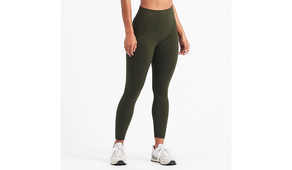 Women's Vuori Elevation Performance Leggings - Color: Evergreen Heather Size: XS, Evergreen Heather, large, image 1