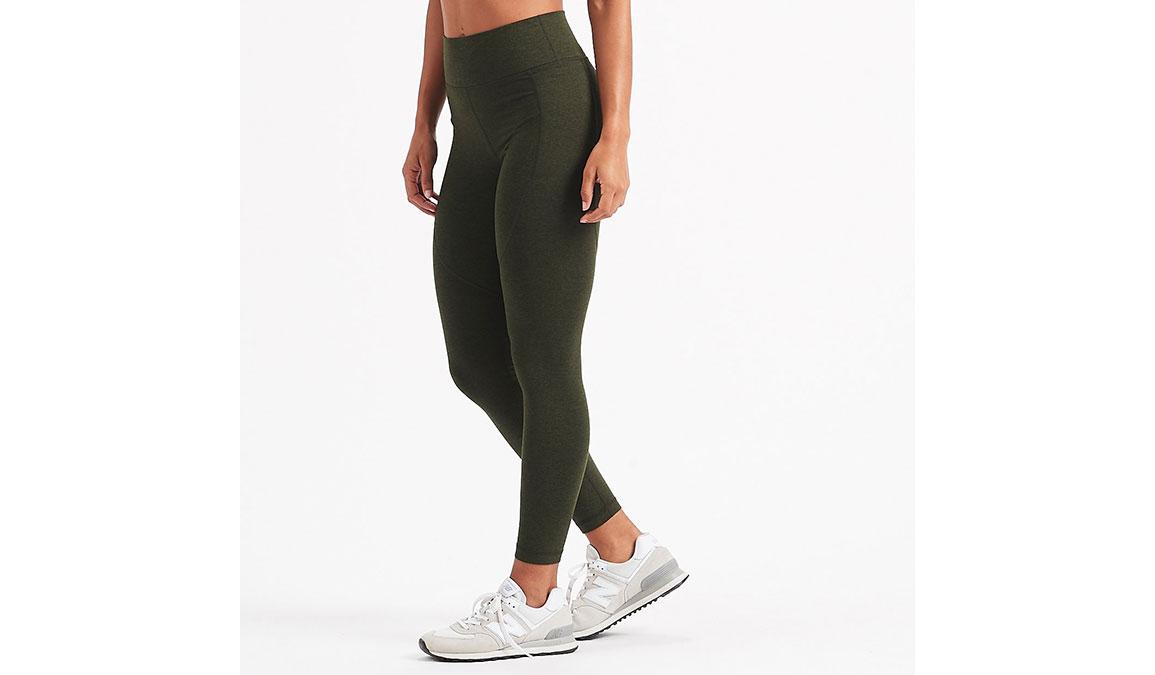 Women's Vuori Elevation Performance Leggings - Color: Evergreen Heather Size: XS, Evergreen Heather, large, image 2