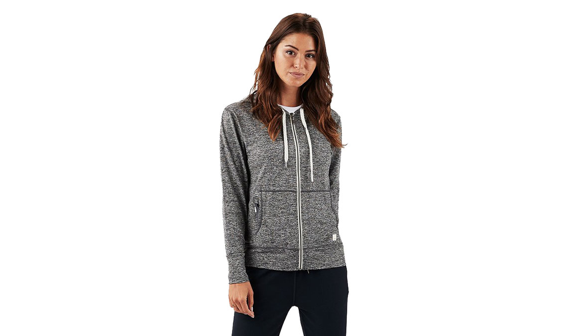 Women's Vuori Halo Performance Hoodie - Color: Heather Grey Size: XS, Heather Grey, large, image 1