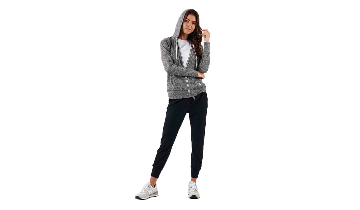 Women's Vuori Halo Performance Hoodie - Color: Heather Grey Size: XS, Heather Grey, large, image 3