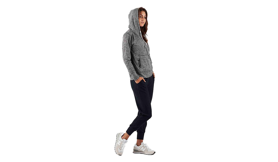 Women's Vuori Halo Performance Hoodie - Color: Heather Grey Size: XS, Heather Grey, large, image 4