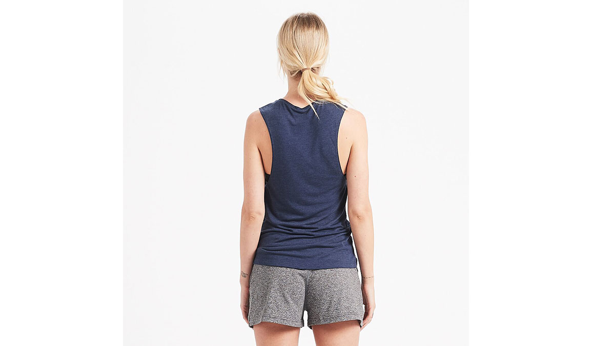 Women's Vuori Live By The Sun Tank - Color: Navy Heather Size: S, Navy Heather, large, image 3