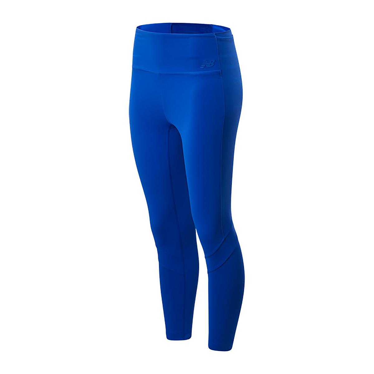 Women's New Balance Transform High Rise Pocket Crop - Color: Marine Blue - Size: XS, Marine Blue, large, image 1