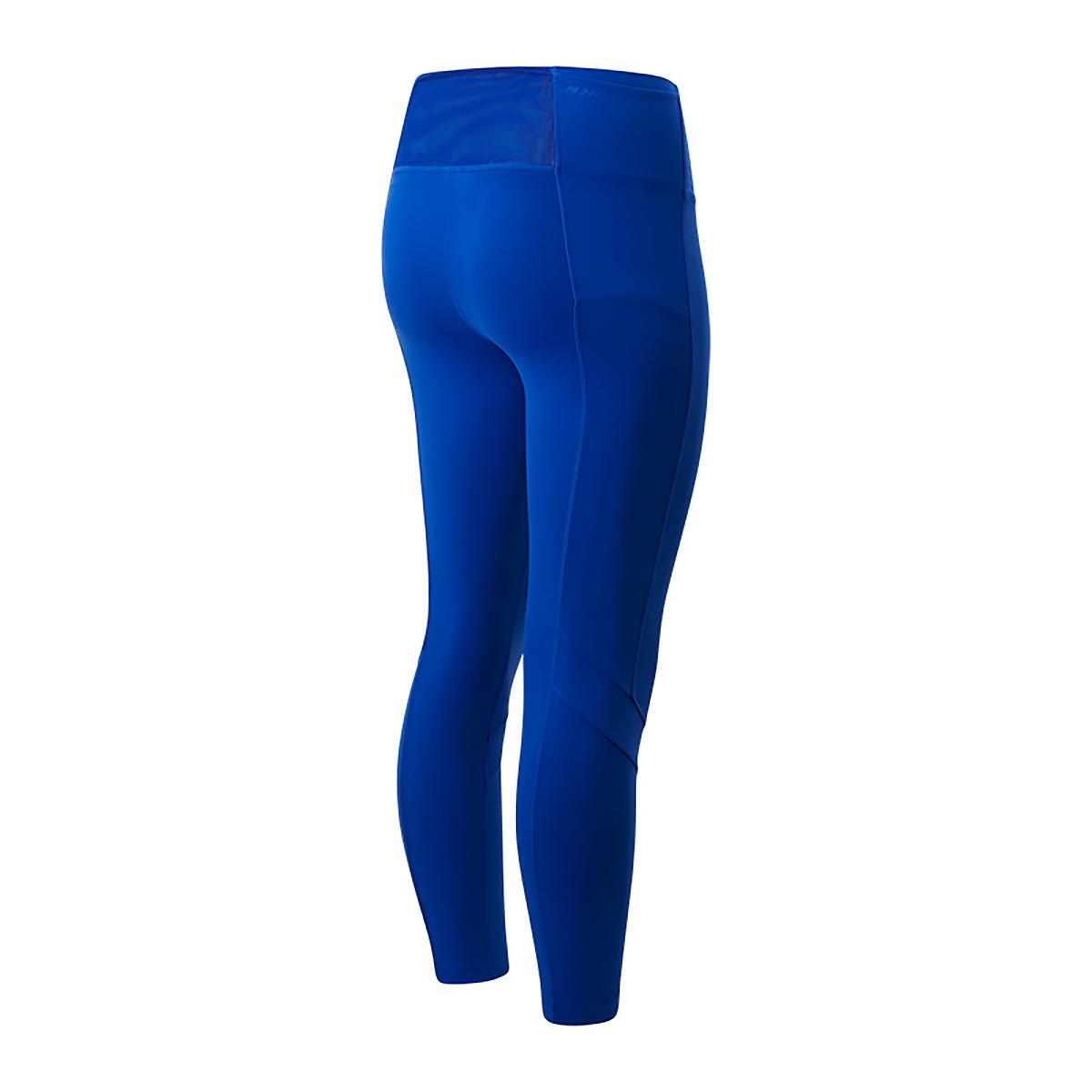 Women's New Balance Transform High Rise Pocket Crop - Color: Marine Blue - Size: XS, Marine Blue, large, image 2