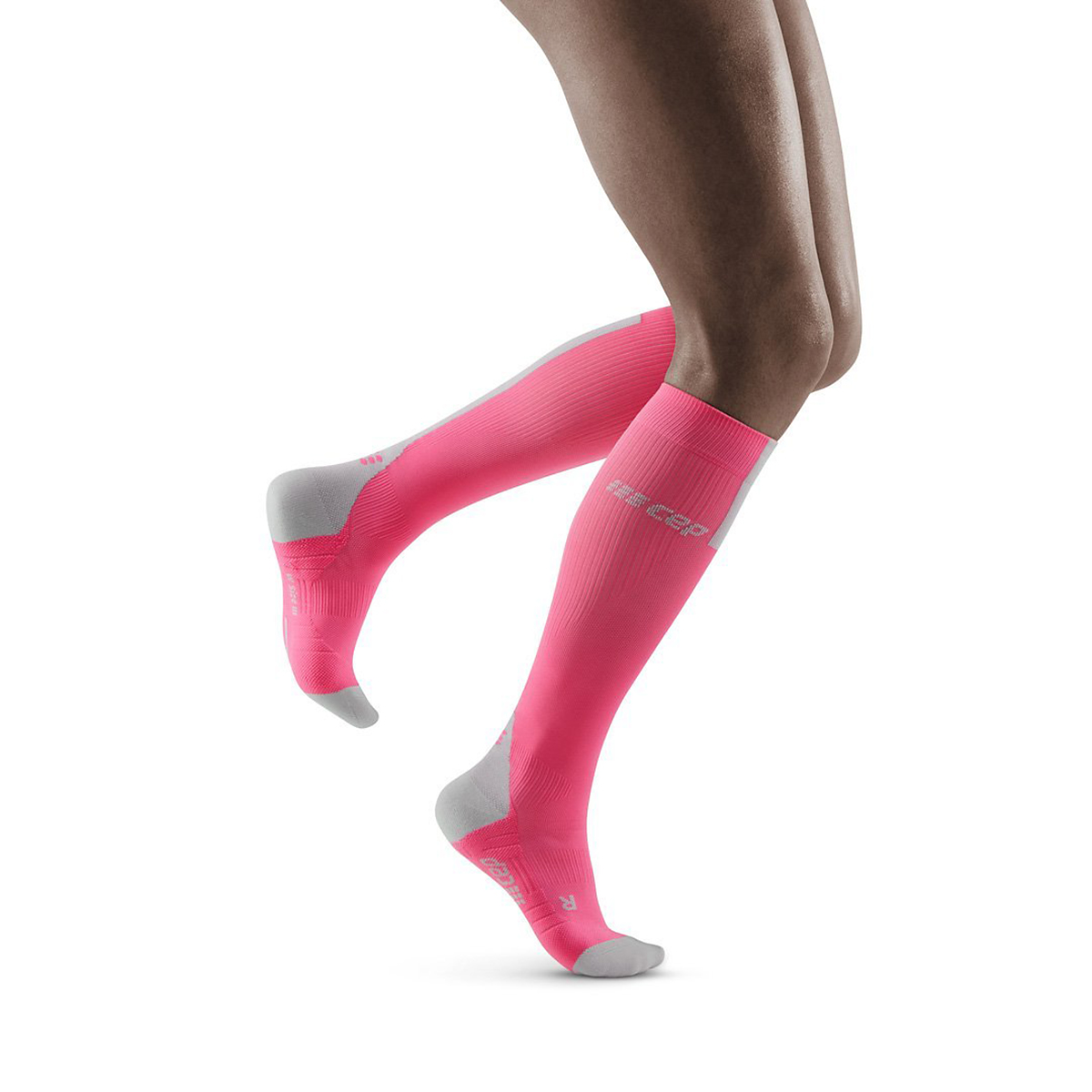 Women's Cep Compression Compression Tall Socks 3.0 - Color: Rose/Light Grey - Size: II, Rose/Light Grey, large, image 1