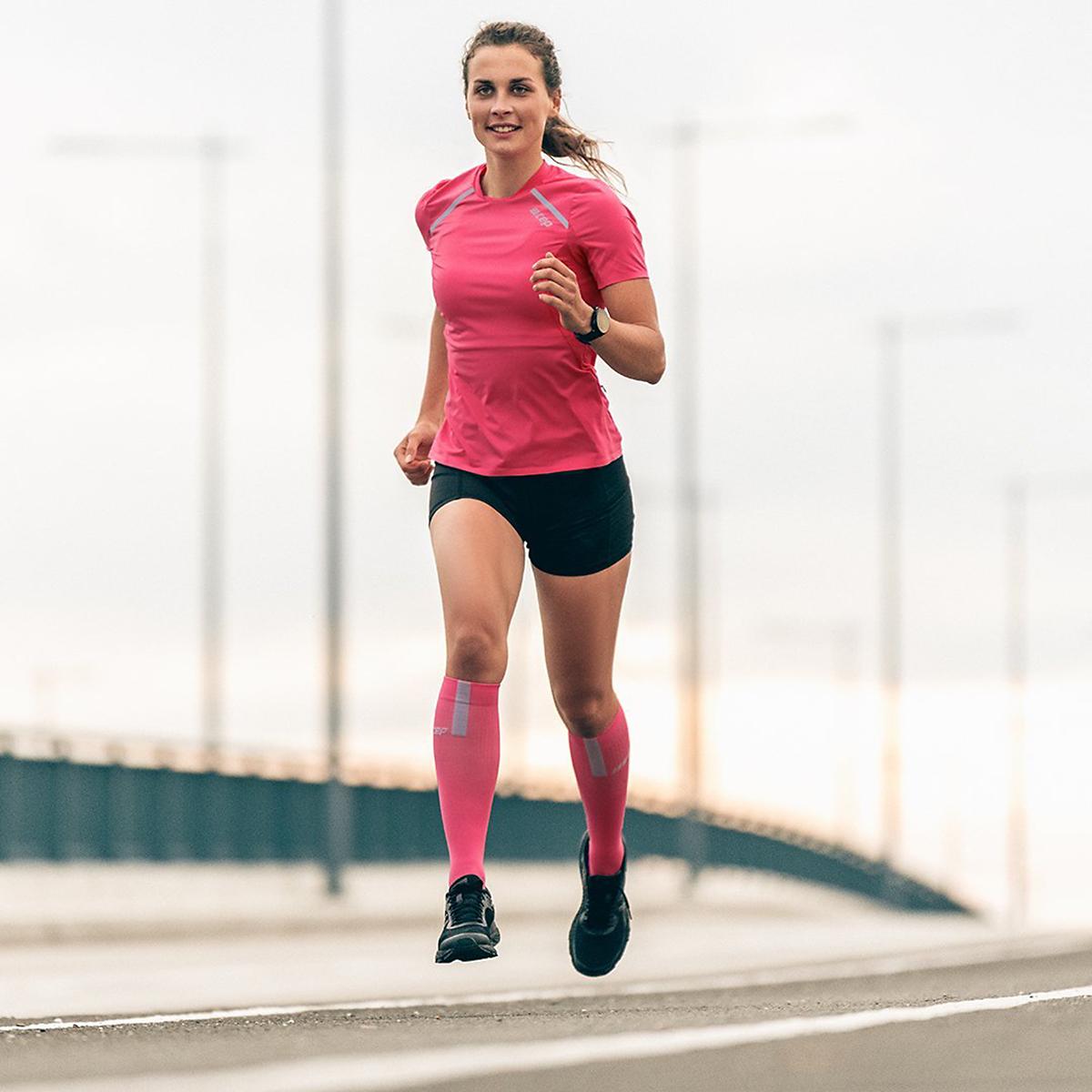 Women's Cep Compression Compression Tall Socks 3.0 - Color: Rose/Light Grey - Size: II, Rose/Light Grey, large, image 3