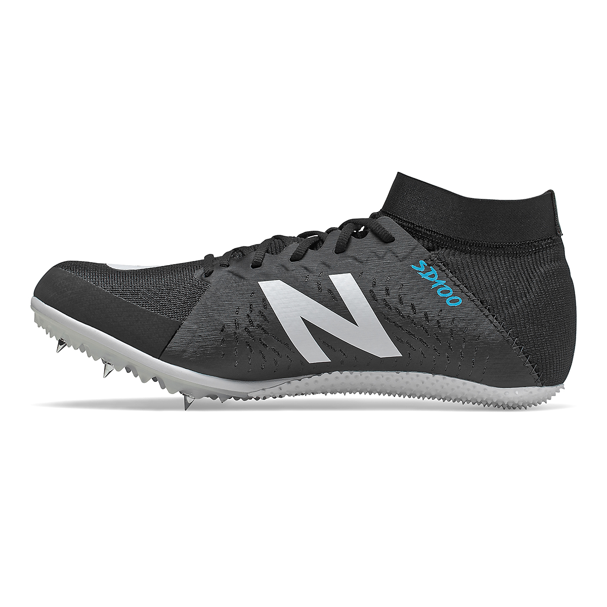 Women's New Balance SD100v3 Track Spikes - Color: Black/White - Size: 5.5 - Width: Regular, Black/White, large, image 2