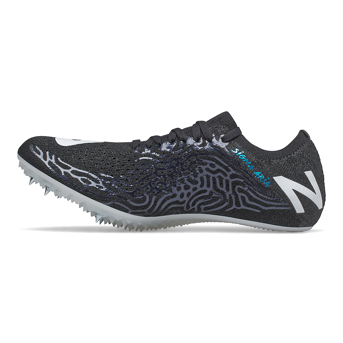 Women's New Balance Sigma Aria Track Spikes - Color: Black/White - Size: 5.5 - Width: Regular, Black/White, large, image 2