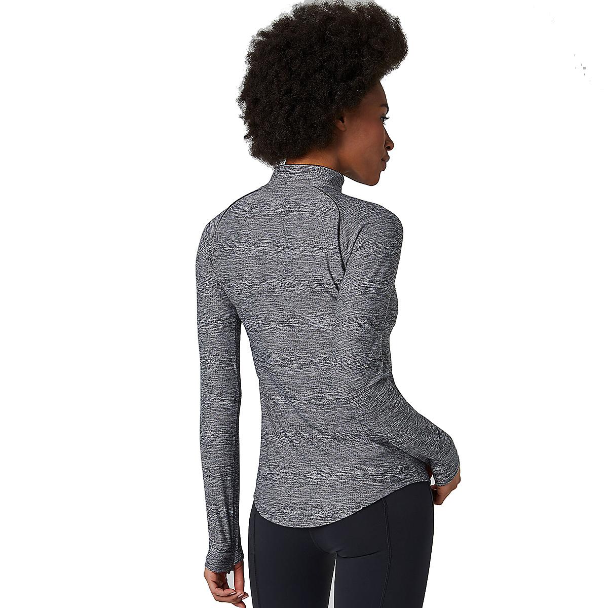 Women's New Balance Transform 1/2 Zip - Color: Black Heather - Size: XS, Black Heather, large, image 4