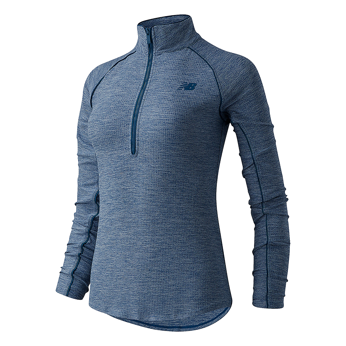 Women's New Balance Transform 1/2 Zip  - Color: Rogue Wave - Size: S, Rogue Wave, large, image 1