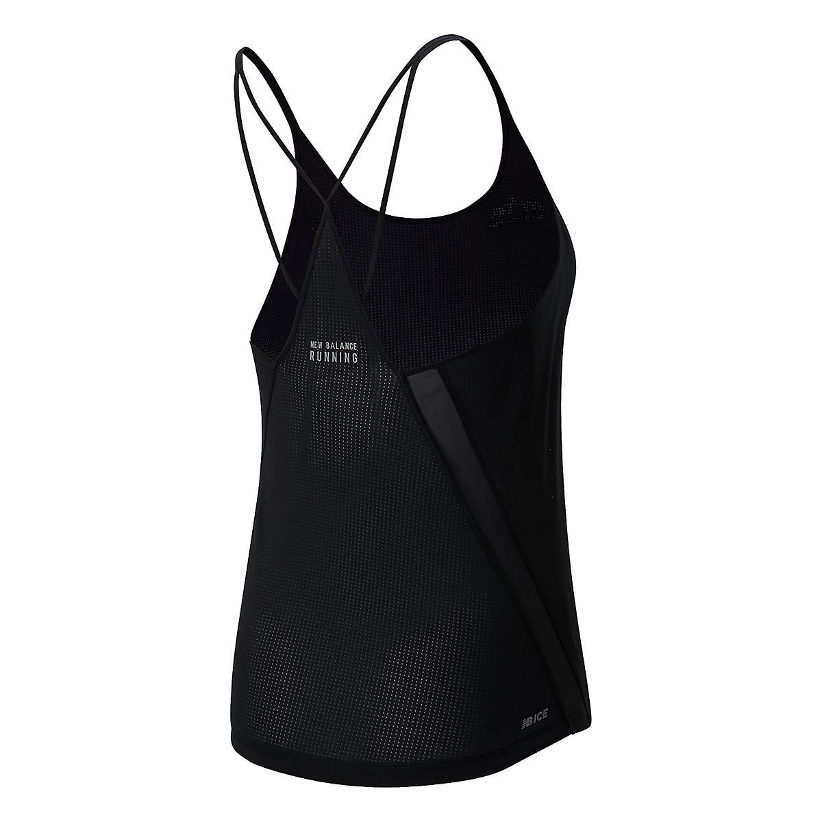 Women's New Balance RFL Impact Run Tank  - Color: Black - Size: XS, Black, large, image 2