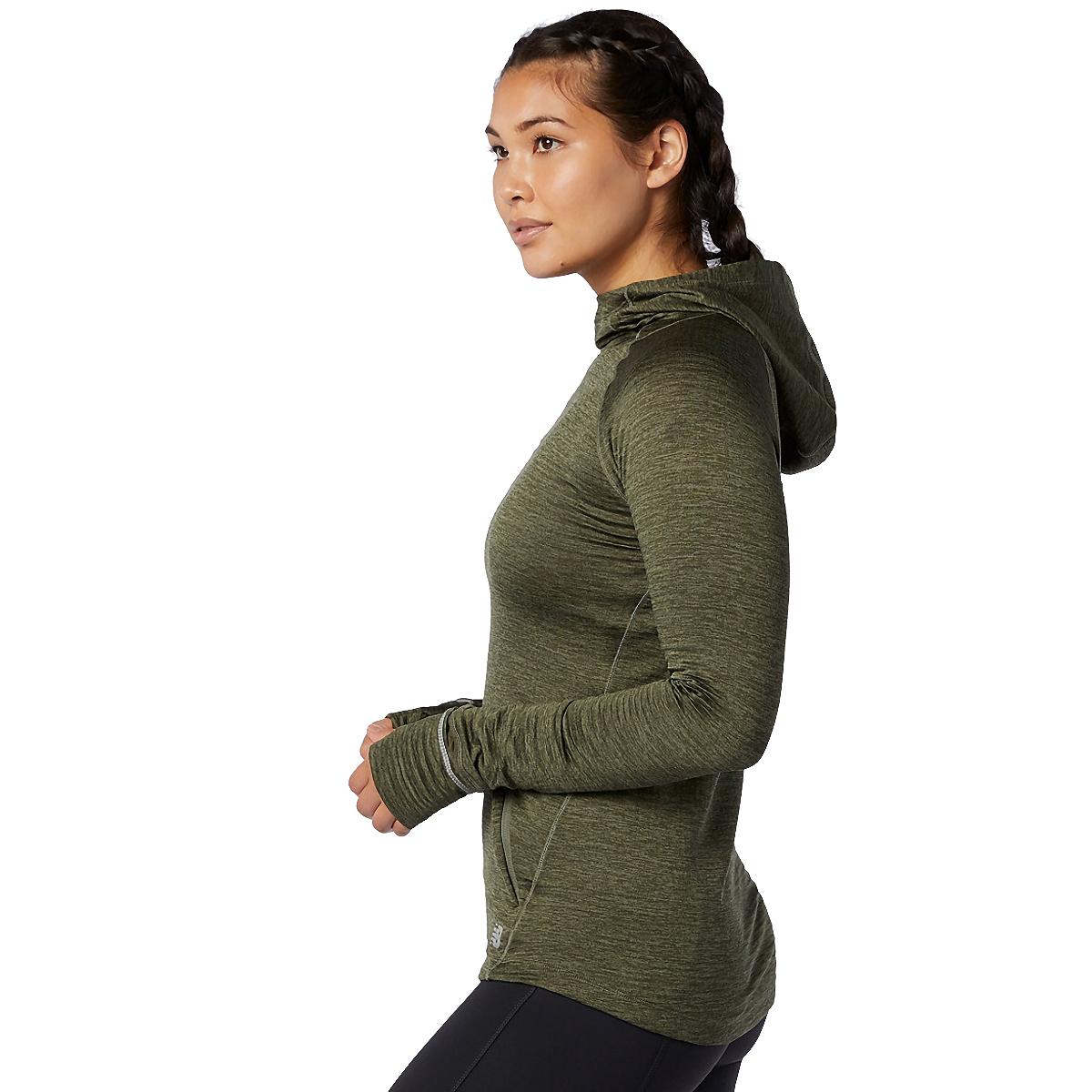 Women's New Balance Heat Grid Hoodie - Color: Oak Green - Size: XS, Oak Green, large, image 2