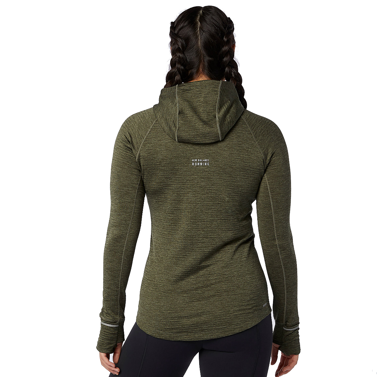 Women's New Balance Heat Grid Hoodie - Color: Oak Green - Size: XS, Oak Green, large, image 3