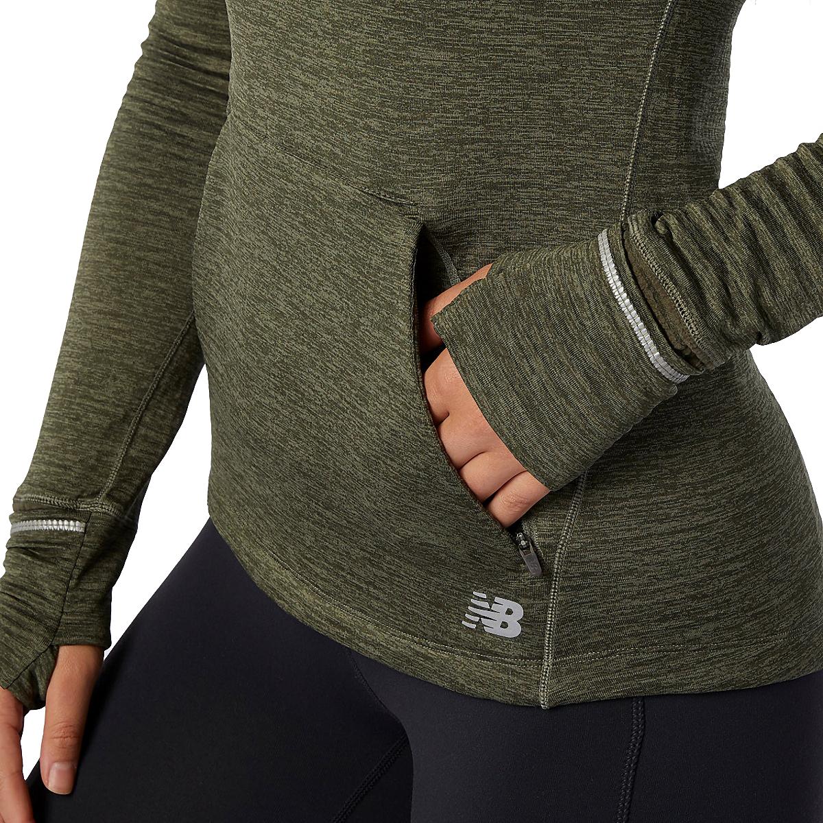 Women's New Balance Heat Grid Hoodie - Color: Oak Green - Size: XS, Oak Green, large, image 4