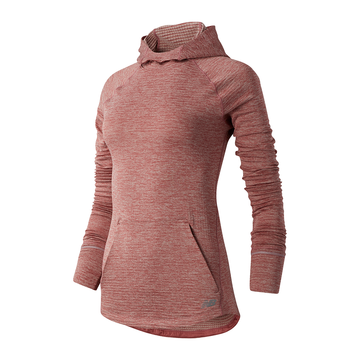 Women's New Balance Heat Grid Hoodie - Color: Pink - Size: XS, Pink, large, image 1