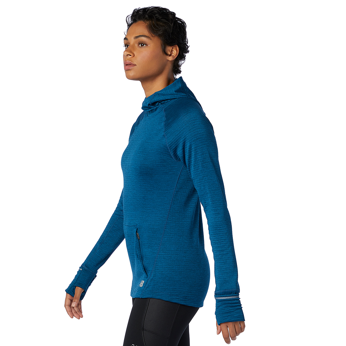 Women's New Balance Heat Grid Hoodie - Color: Rogue Wave - Size: XS, Rogue Wave, large, image 4